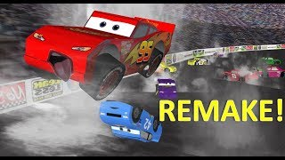 Cars Opening Race Big Crash REMAKE! 3D Animation!