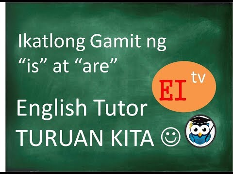 Linking Verb (is and are) General truth English Turong Tagalog
