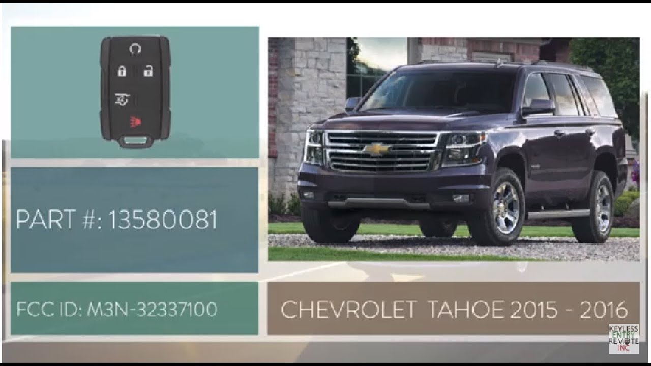 How To Replace Chevrolet Tahoe Key Fob Battery 2017 2016