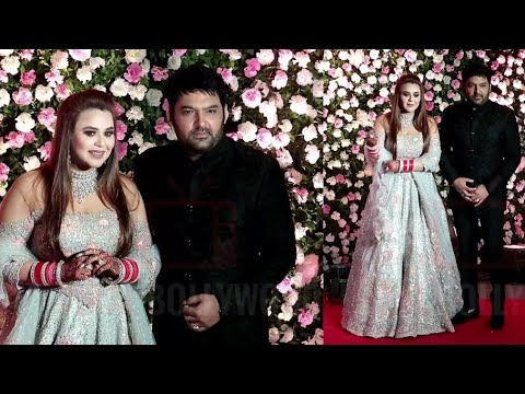 Kapil Sharma With Beautifull Wife Ginni Chatrath | Kapil Sharma Wedding Grand Reception