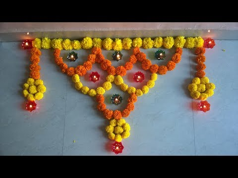 Flowers Decoration for Tulsi Vivah. thumbnail