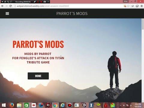 Tutorial cara mendownload Parrots Mod Vivid Assassin untuk game attack on titan tribute game kalian