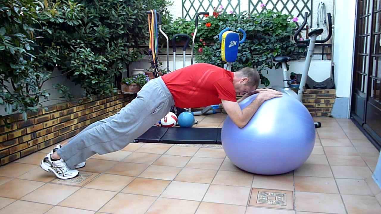 Gainage abdos swiss ball niveau confirmé - Circuit ventre ...