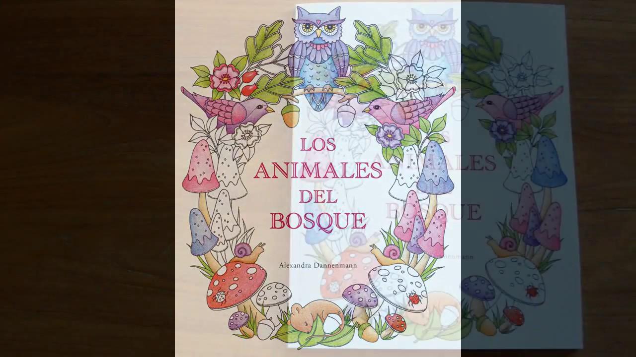Los animales del bosque un libro de colorear para so ar - Libros para relajarse ...