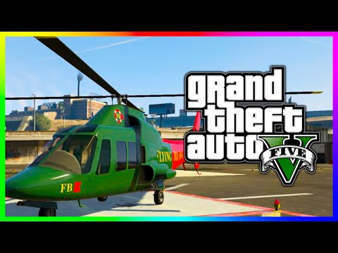 "GTA 5 NEW Retro ""Buckingham SWIFT"" Luxury Helicopter! GTA 5 Flight School Update DLC! (GTA V)"