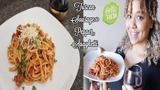Tuscan Sausage and Pepper Spaghetti HelloFresh Recipe