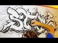 Huge Freestyle B/W Graffiti Poster Painting