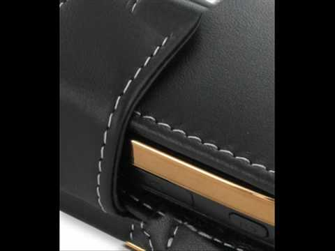 PDair Leather Case for Samsung B7620 Giorgio Armani - Horizontal Pouch Type (Black)