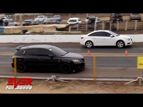 Mazda 3 Vs Cruze Vs Jetta | 18 Seg, 5 Val Piques 1/4 De Milla B/quilla 2019