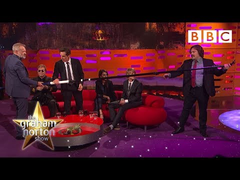Zoolander cast takes a selfie with Sir Elton John - The Graham Norton Show: Preview - BBC One