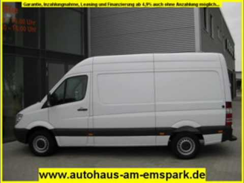 mercedes benz sprinter 209 cdi hochdach m lang weiss. Black Bedroom Furniture Sets. Home Design Ideas