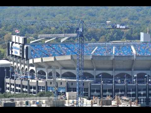 Filling Bank of America Stadium Timelapse