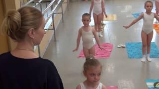 Сандра КРУГЛОВА (4 г.) - открытый урок по ритмике Школы танца Елены Морозовой (г. Подольск)