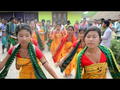 Dance by Bodo tribe of Assam, India.