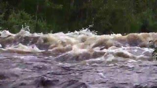 3 - я серия.Водный туризм. Река Воньга. Прохождение порогов на байдарках Щука. travels