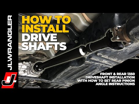 HOW TO INSTALL 1350 Driveshafts on a Jeep JL Wrangler