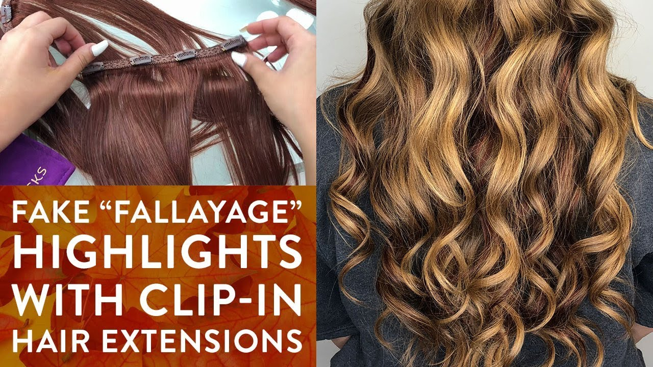 Fake Fallayage Highlights With Clip In Hair Extensions Youtube