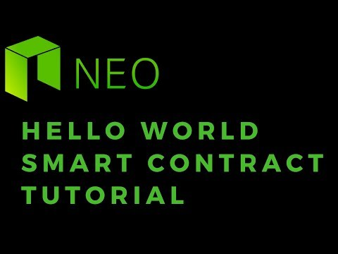 NEO Smart Contract Tutorial - Hello World