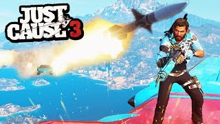 Just Cause 3 - The Greatest... (Police Mod & Rocket) | SuperRebel