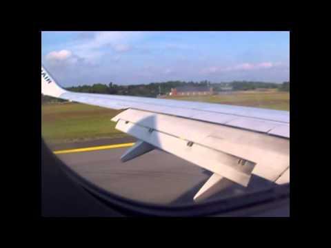 Ryanair landing at Moss Airport Rygge