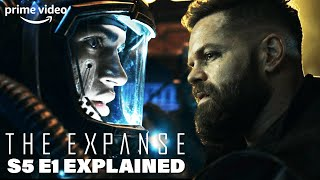 What happens in the expanse season 5 episode 1? why does filip attack scientists? who is experimenting with protomolecule? mysterious alien entities...