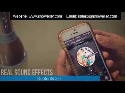 Karaoke Wireless Bluetooth Music Condenser Microphone Speaker