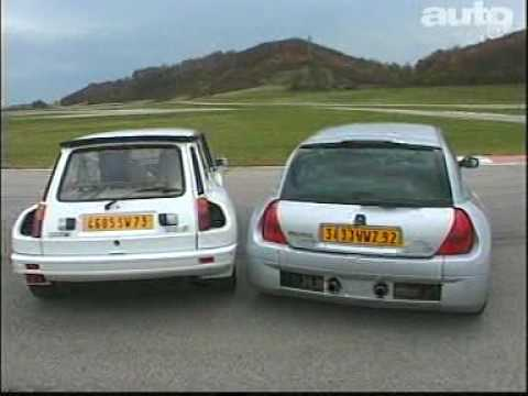 renault sport clio v6 vs r5 maxi turbo2 youtube. Black Bedroom Furniture Sets. Home Design Ideas
