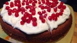 Деревенский торт с ягодами