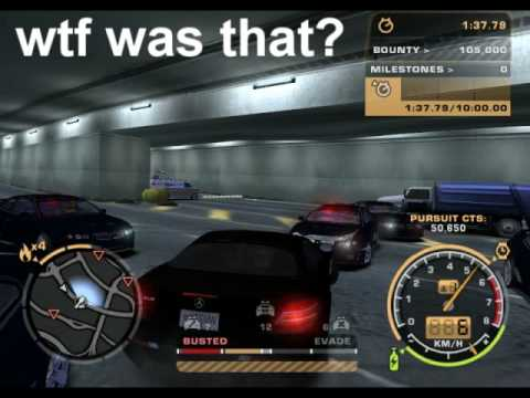 NFSMW: TVNEWS VAN in a Spikestrip Roadblock