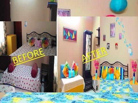 Bedroom makeover | bedroom decorating ideas | bedroom makeover in budget