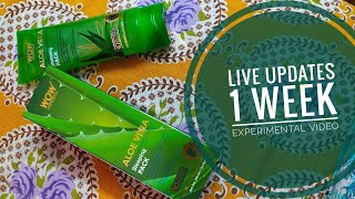 *New* Wow Aloe Vera Sleeping Pack || Review + Experiment || 8 days live results | Must watch video