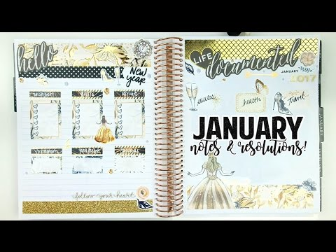 Plan with Me: January Notes & Resolutions!