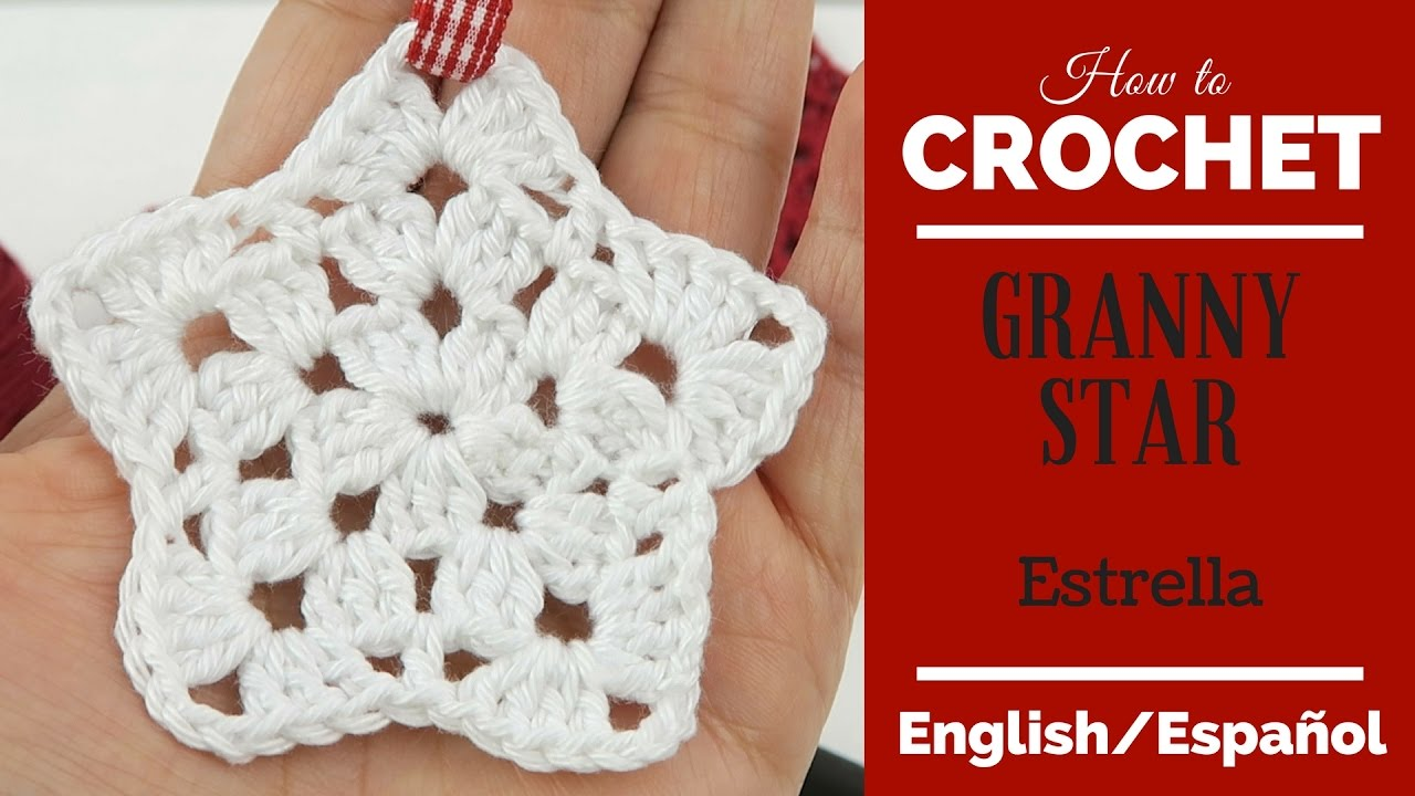 Crochet Christmas Ornament Granny star - Crochet decoracion de ...