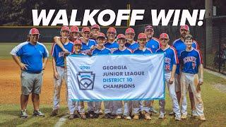Oconee County 14U AllStars Walkoff Win | 2021 Georgia State Tournament
