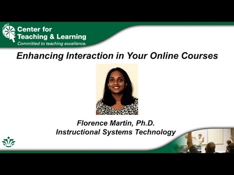 Enhancing Interaction in Your Online Courses ( 3/14/2017)