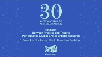 SibA Research Days 2020: Between Practice and Theory: Performance Studies and/as Artistic Research