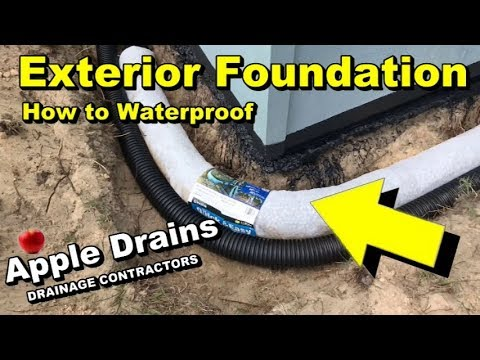 waterproof your addition french drain as footer tile sump pump discharge downspouts seperate