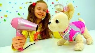 Видео с игрушками. Салон Красоты 🐶 #ЧиЧиЛав Подружки! Идём на День Рождения! 💇 Игры Парикмахерская