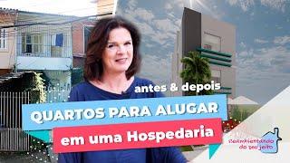 QUARTOS PARA ALUGAR - HOSPEDARIA EM TERRENO DE 4m DE LARGURA