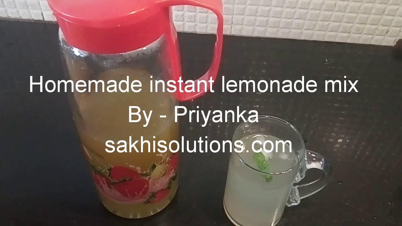 how to make homemade lemonade mix