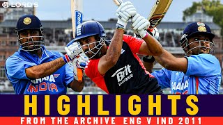 Dhoni, Raina & Bopara Star in Remarkable Tie in the Rain! | Classic ODI | Eng v India 2011 | Lord's