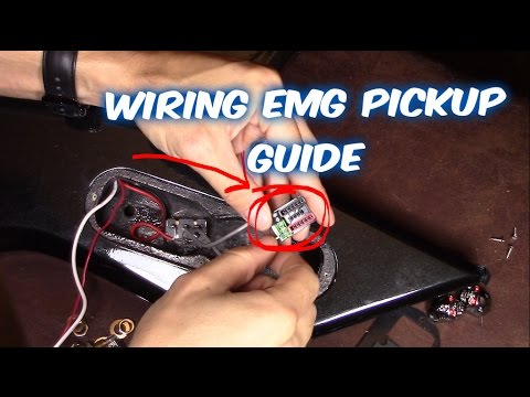 Wiring EMG Active & Passive Pickups in Electric Guitar - YouTube