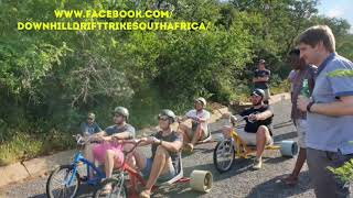 Down hill drift trike adventure rides downhill adventures South Africa Johannesburg