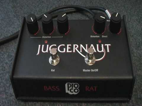 sold my juggernaut proco rat bass distortion effects pedal sound test 2009 youtube. Black Bedroom Furniture Sets. Home Design Ideas