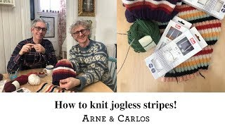 How to knit jogless stripes in the round - the easiest way by ARNE & CARLOS