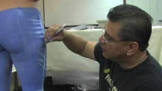 Repeat youtube video Mark Reid - Body Painter - Body Painting Jeans
