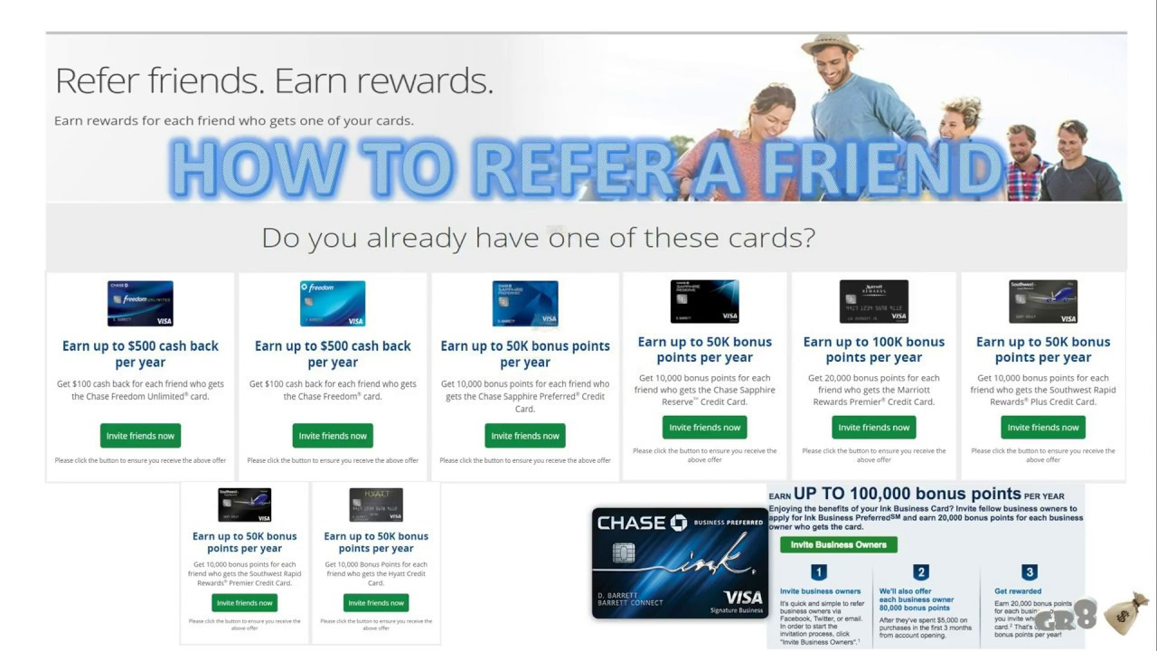 How to refer friends to Chase Credit Cards - YouTube