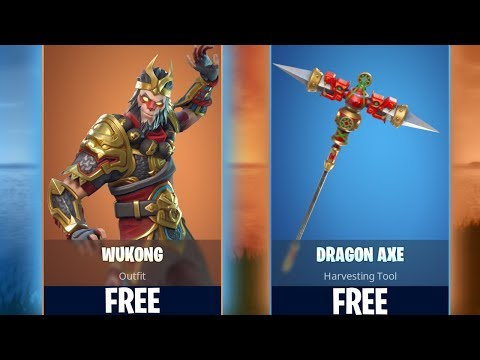 New WUKONG & DRAGON AXE Skins In Fortnite! HOW TO GET FOR FREE!