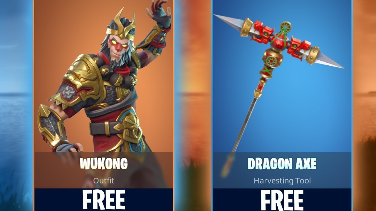 New Wukong Dragon Axe Skins In Fortnite How To Get For Free - new wukong dragon axe skins in fortnite how to get for free