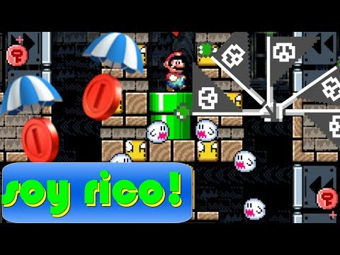 Robando las monedas rojas de mis suscriptores   Mario maker español latino